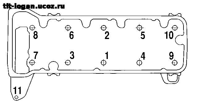 Фото №2 - порядок протяжки головки блока цилиндров ВАЗ 2110 8 клапанов