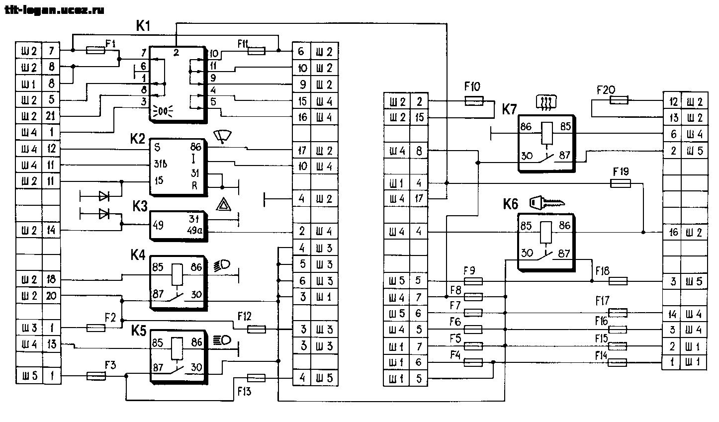 Ваз 2170 схема монтажного блока